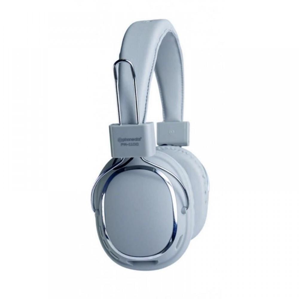 PHONEAKS Bluetooth Kablosuz Kulaklık SD Kart Girişli Silver