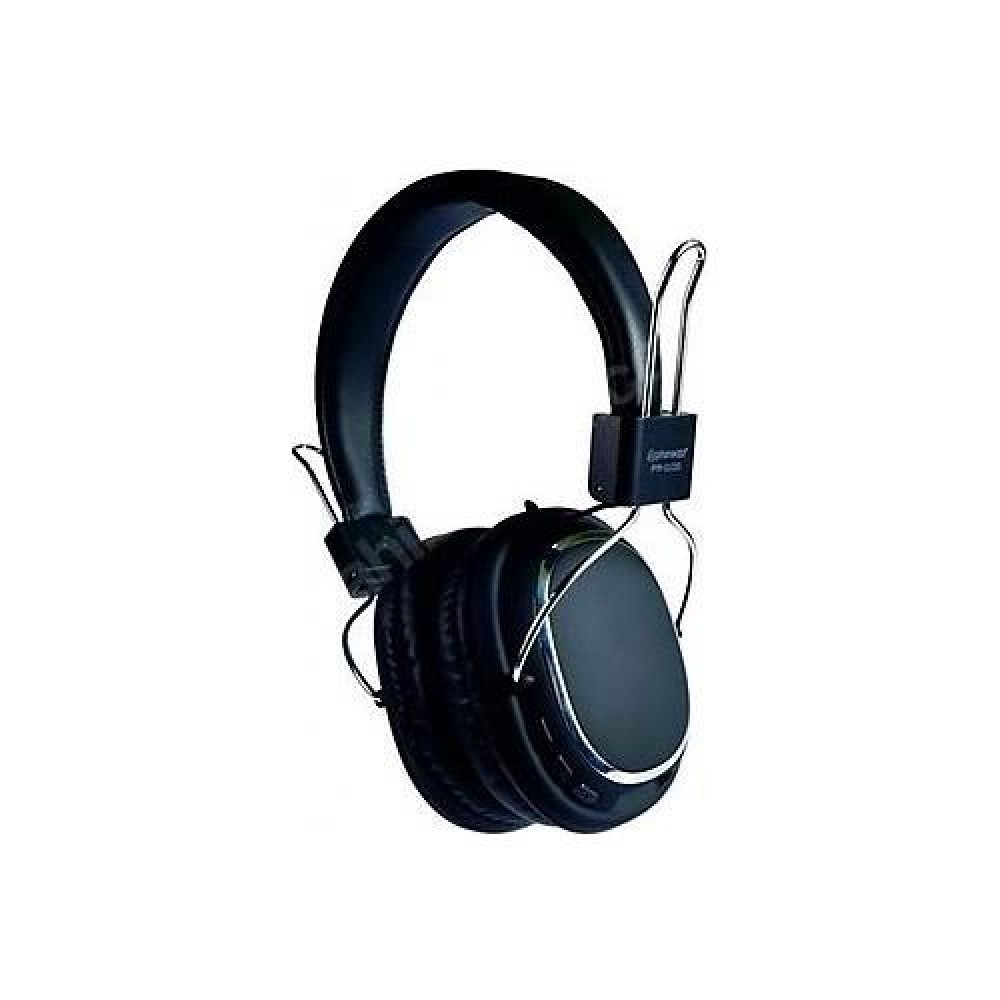 PHONEAKS Bluetooth Kablosuz Kulaklık SD Kart Girişli Siyah