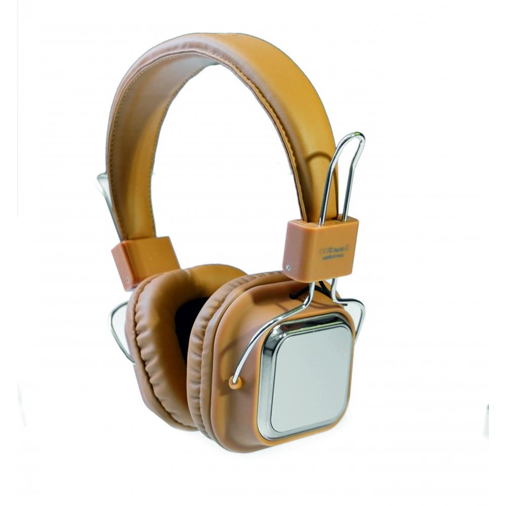 PHONEAKS PA-1110 Bluetooth Kablosuz Kulaklık SD Kart Girişli Krem
