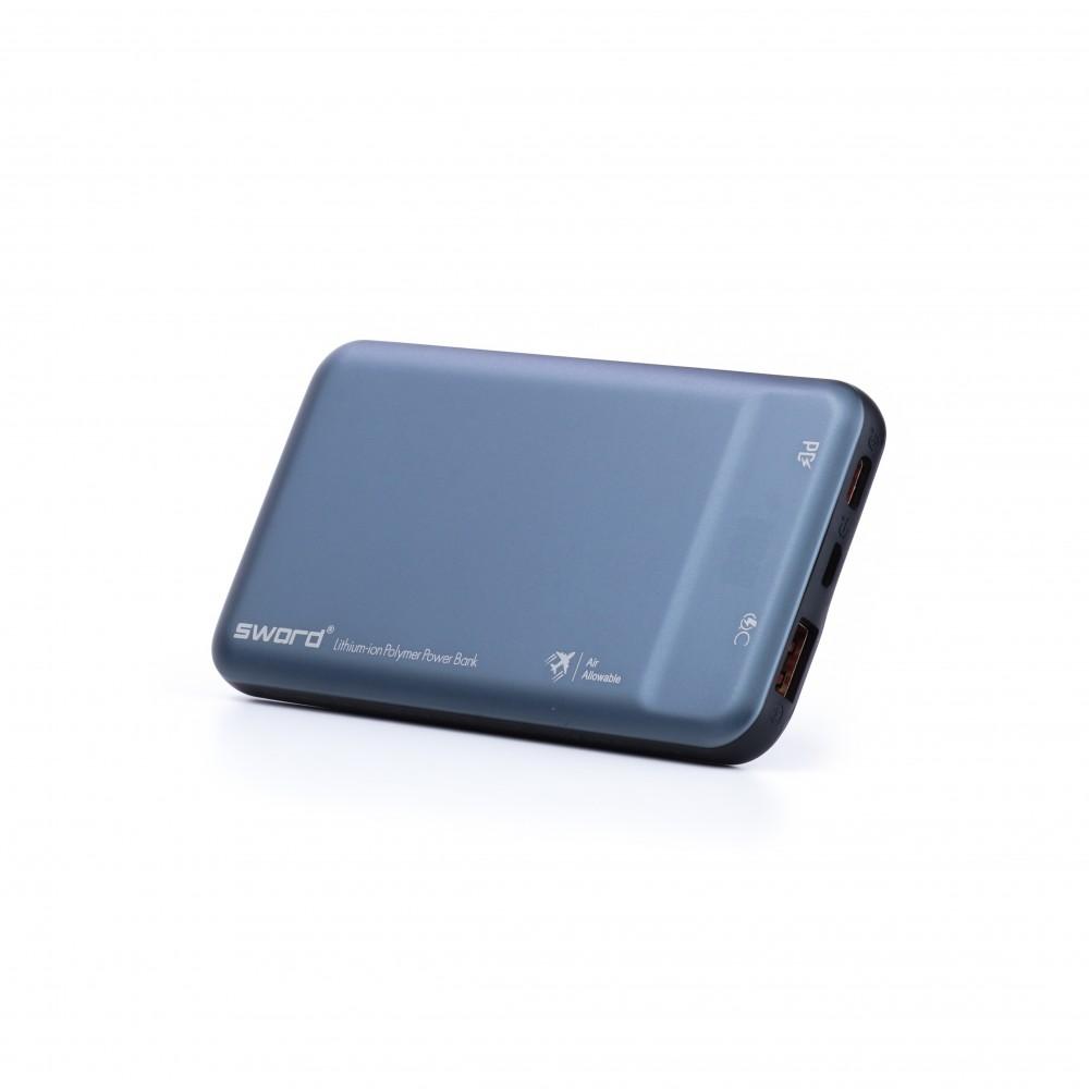 SWORD 10000 mah Digital Göstergeli Turbo Güçlü Powerbank Gray