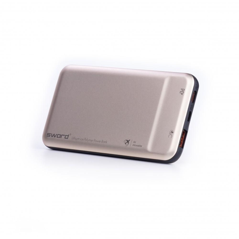 SWORD 10000 mah Turbo Güçlü Digital Göstergeli Powerbank Gold