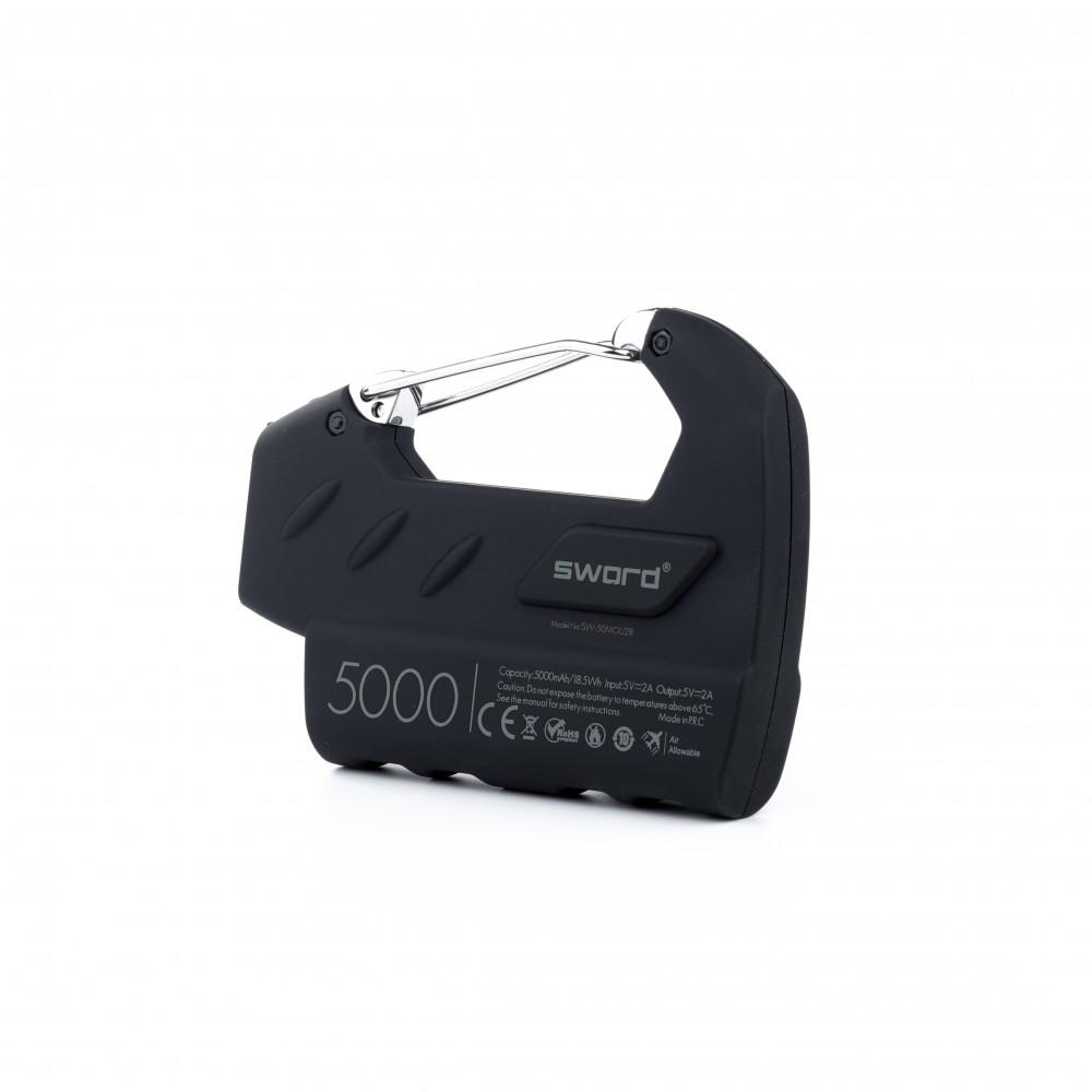 SWORD 5000 mah Outdoor Powerbank Siyah