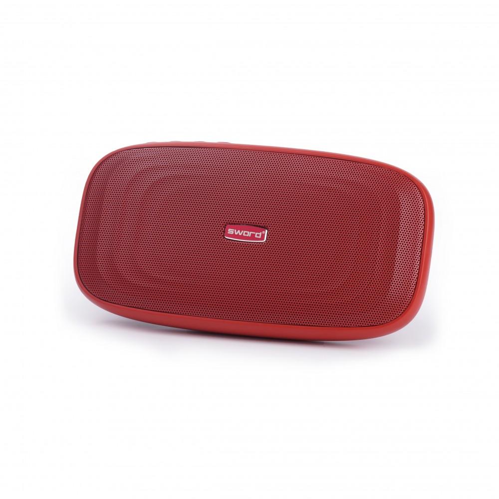 SWORD 5000 mah Powerbank Özellikli Bluetooth Hoparlör Kırmızı