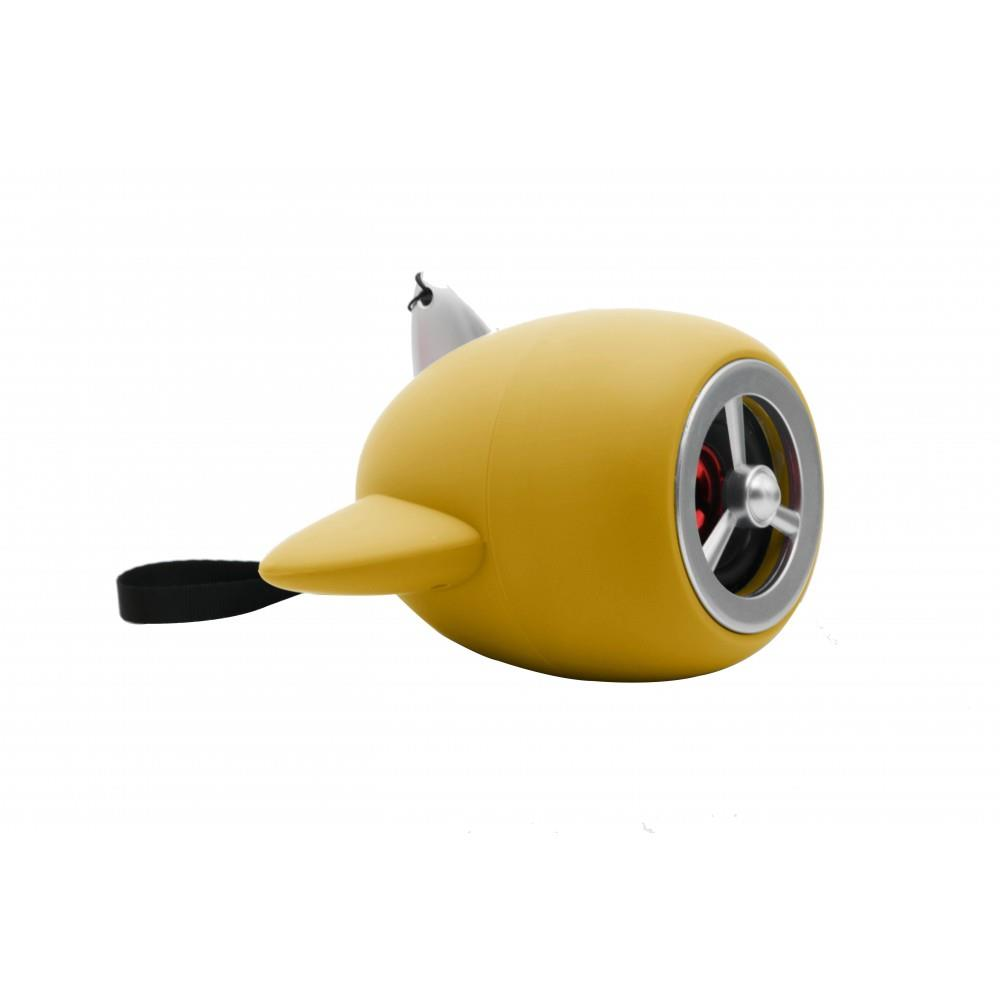 Sword Kablosuz Taşınabilir Bluetooth Hoparlör Uçak Tasarımı Yellow